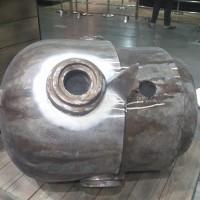 展场一角的机器人头,Severed Soot Diver Bot Head