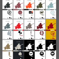 本次发售的宣传图之一,标出了15种配色